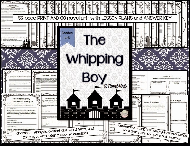 https://www.teacherspayteachers.com/Product/The-Whipping-Boy-Novel-Unit-for-Grades-4-6-1700698
