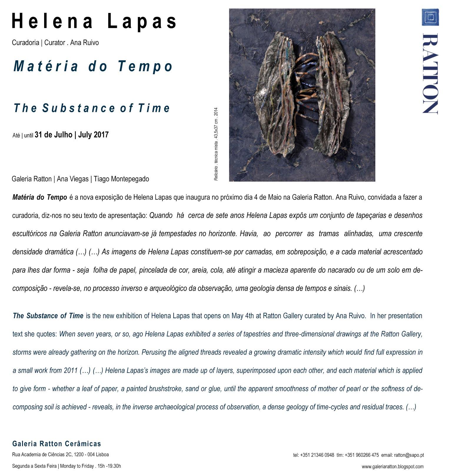 2017 . Helena Lapas . Matéria do Tempo