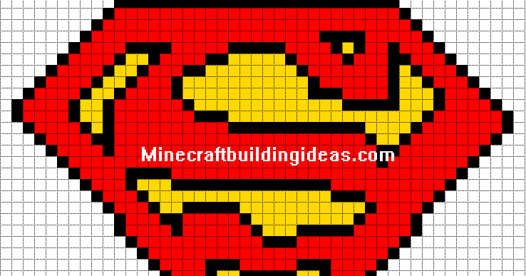 how to make minecraft pixel art templates - minecraft pixel art templates superman logo