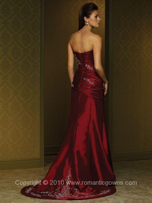 Mia Solano Beautiful Red Romantic Wedding Gown