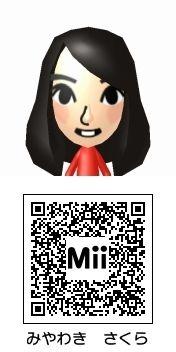宮脇咲良(HKT48)のMii QRコード トモダチコレクション新生活