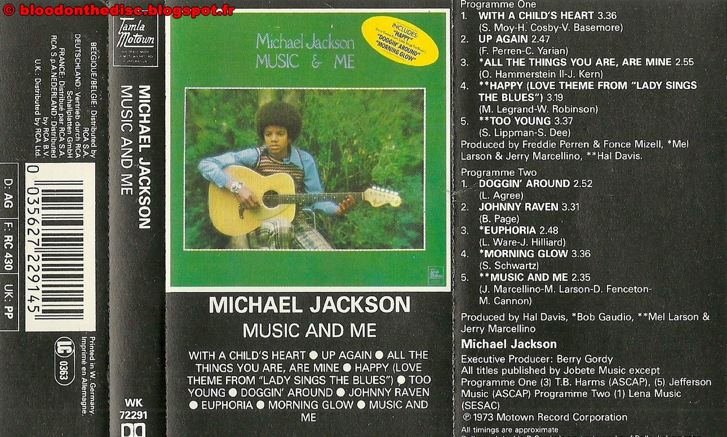 Music And Me K7 Cover