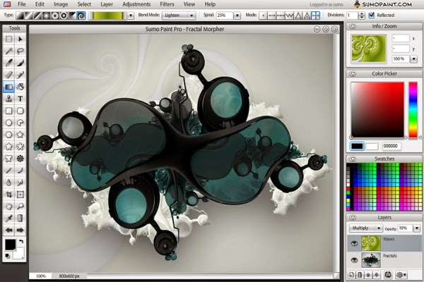 Buat Gambar dan Edit Foto Dengan Sumo Paint