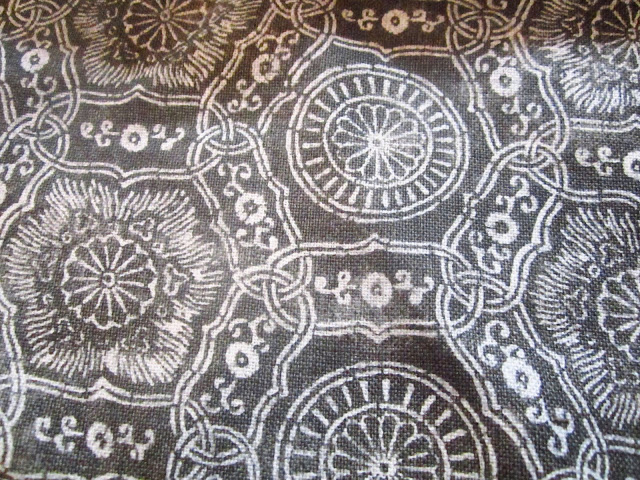 Close up of Katie Leede's fabric