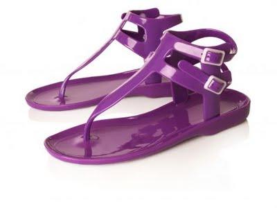 Purple Sandals Flats