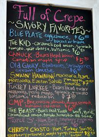 Menu Board - Full of Crepe - Bethlehem, PA | Taste As You Go