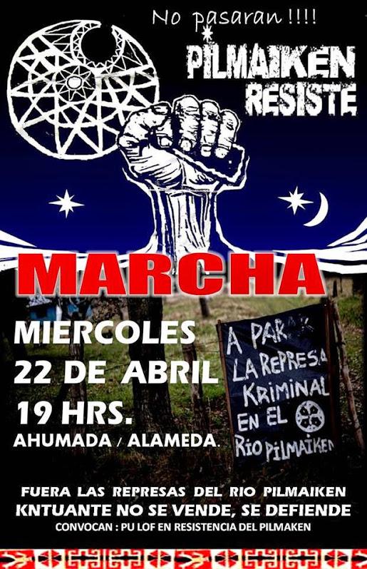 SANTIAGO CENTRO: MARCHA PILMAIKEN RESISTE