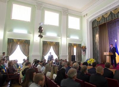 Выступление Президента Украины Виктора Януковича в Николаевском государственном аграрном университете.