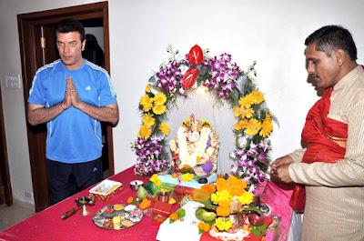 Aditya Pancholi Celebrates Ganesh Festival pictures