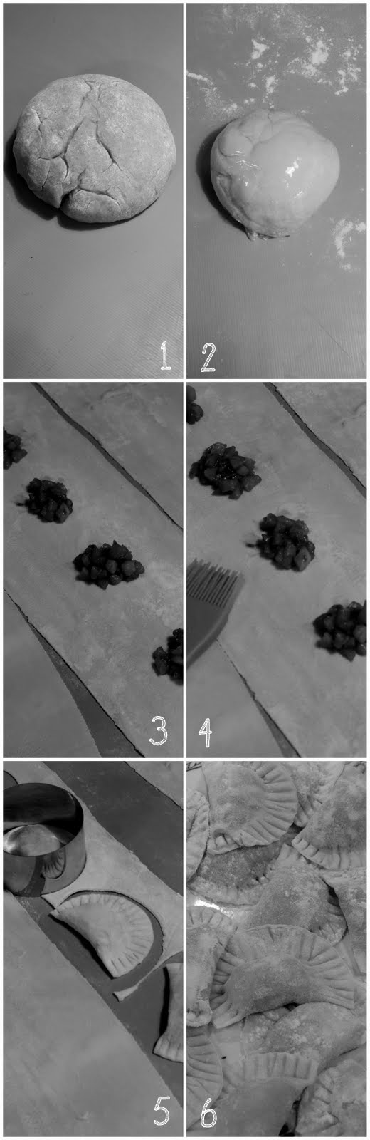 Etapes : Mezzalunas aux poires et fourme d'Ambert