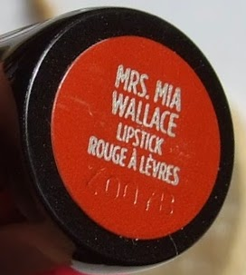 Urban decay pulp fiction Mrs Mia Wallace Revolution lipstick collection swatches review