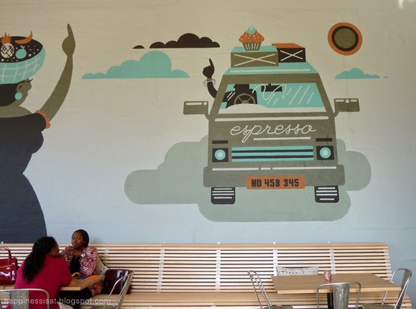 Happiness is... The Boiler Room - Durban Restaurant - Mural by Wesley van Eeden, aka Resoborg