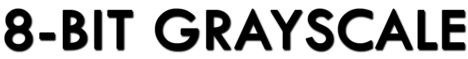 8-bit grayscale