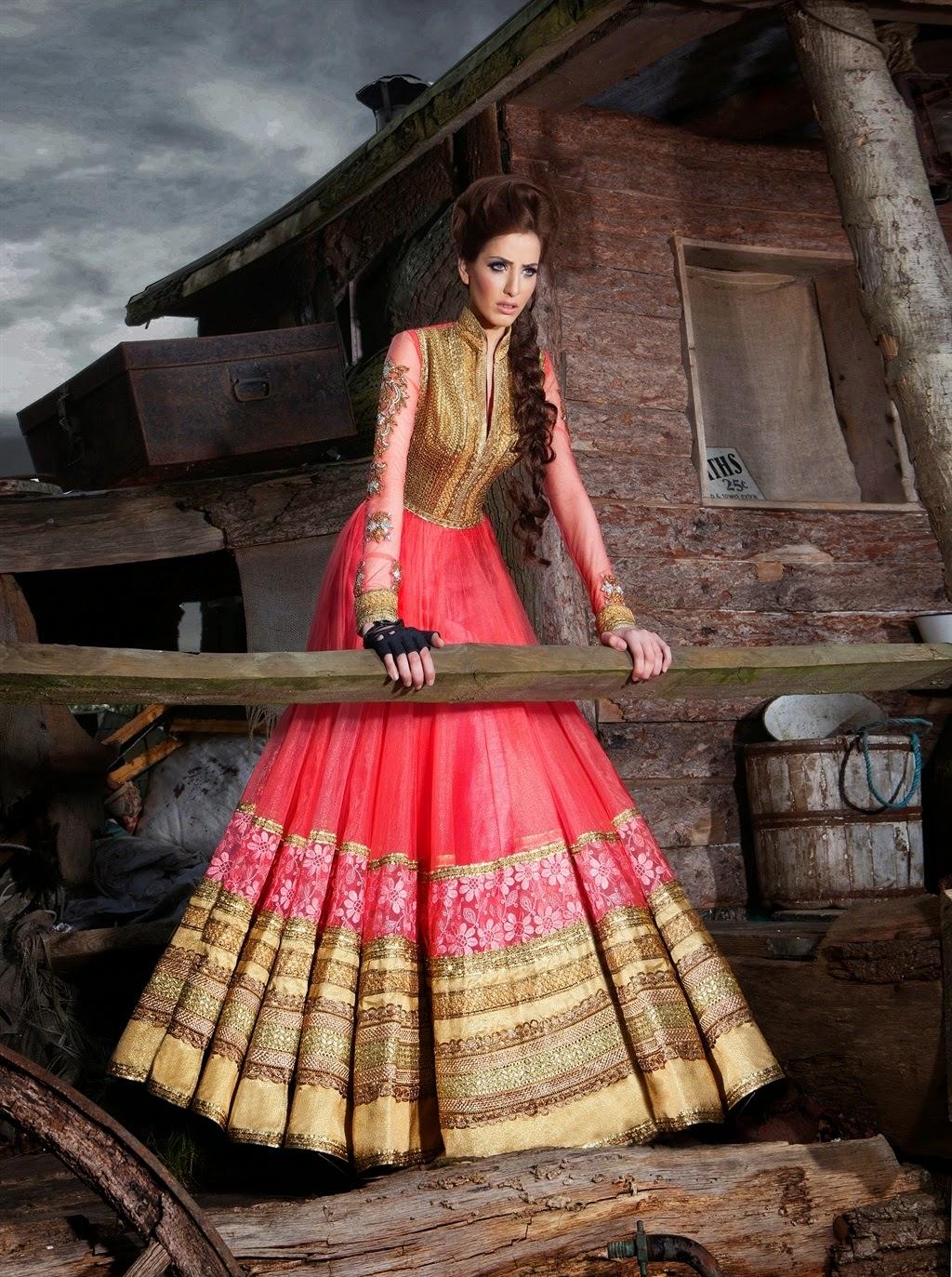Marvelous 2014 Collection of Wedding Wear Floor Length Anarkali ...