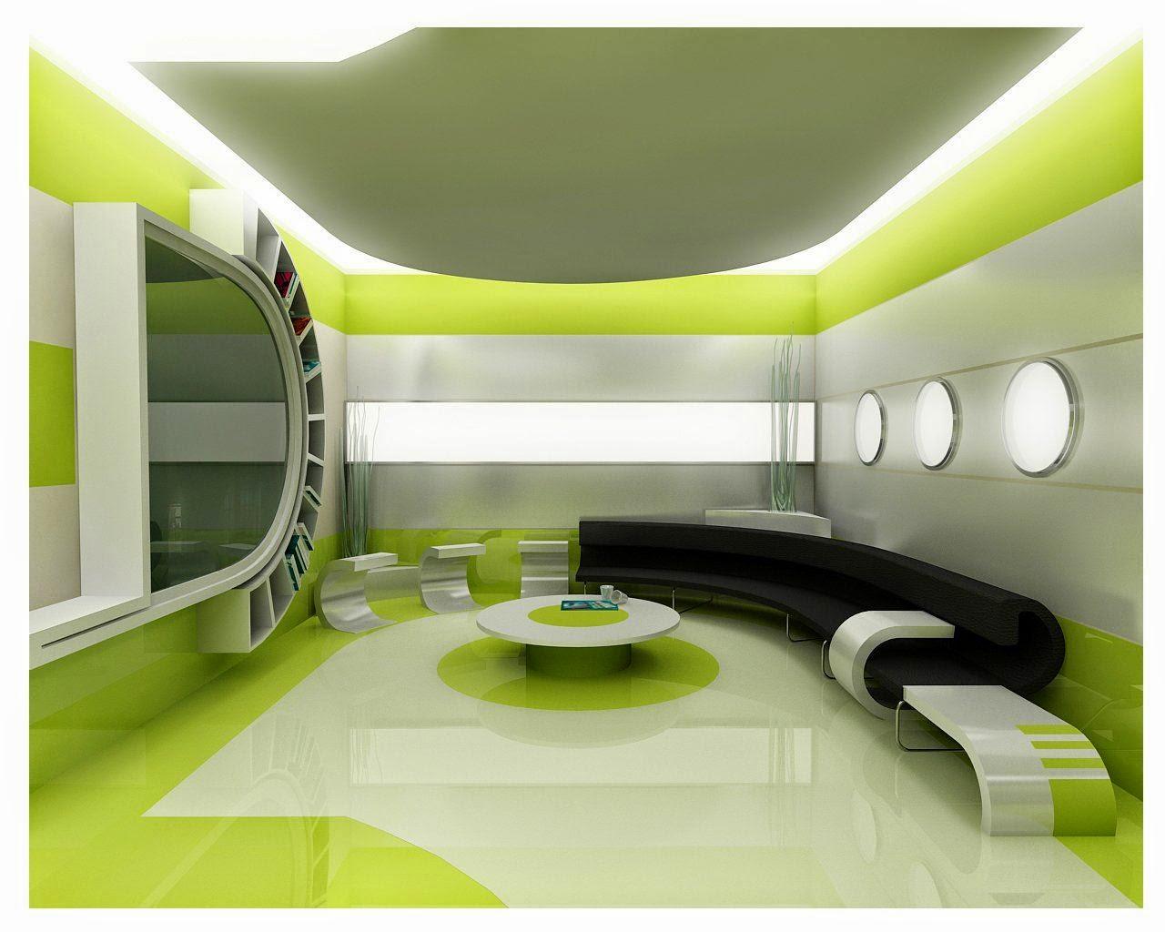 Beautiful Green Living Room Interior