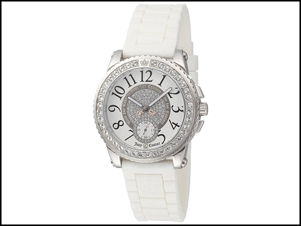 Juicy-Couture-Women's-1900702-Pedigree-White-Jelly-Strap-Watch