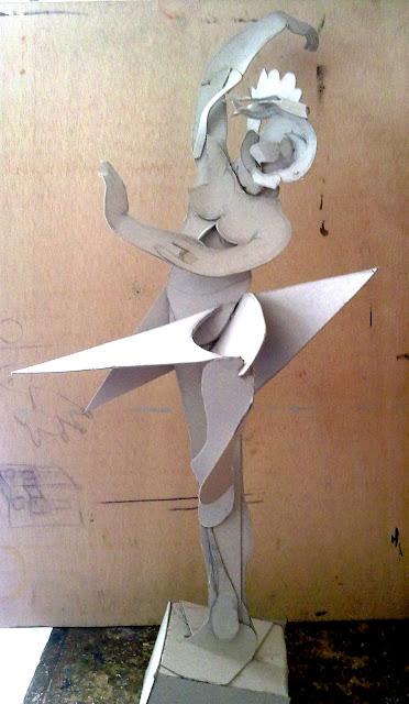 bailarina, garagallo, carton