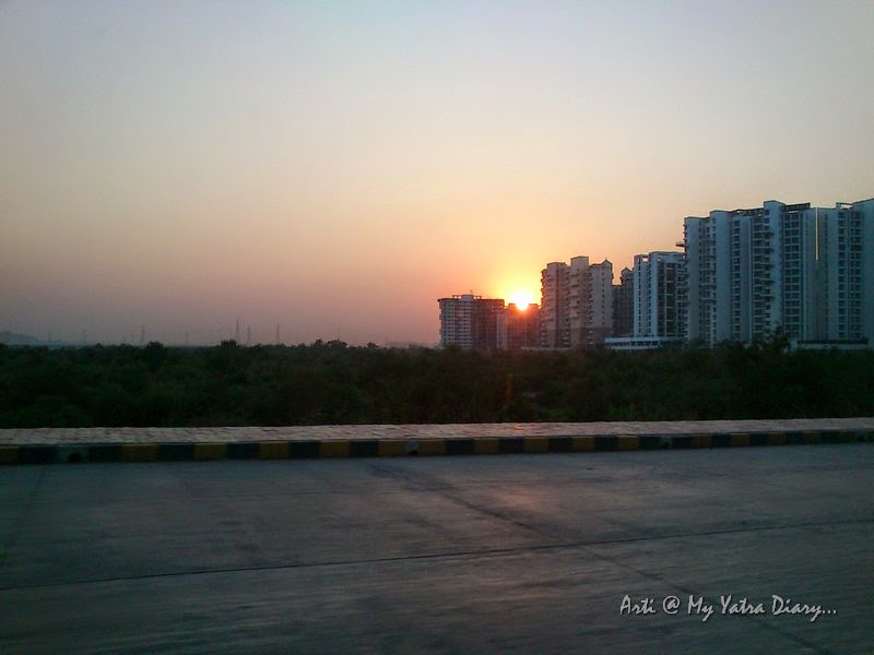 Sunset on the Mumbai Pune Expressway, Maharashtra India