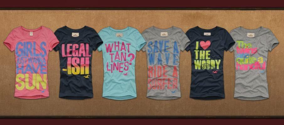 Hollister shirts for girls 2014