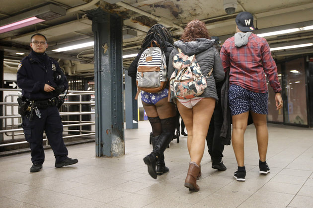 Photos: Tens of thousands strip down to celebrate 'no pants subway ride'