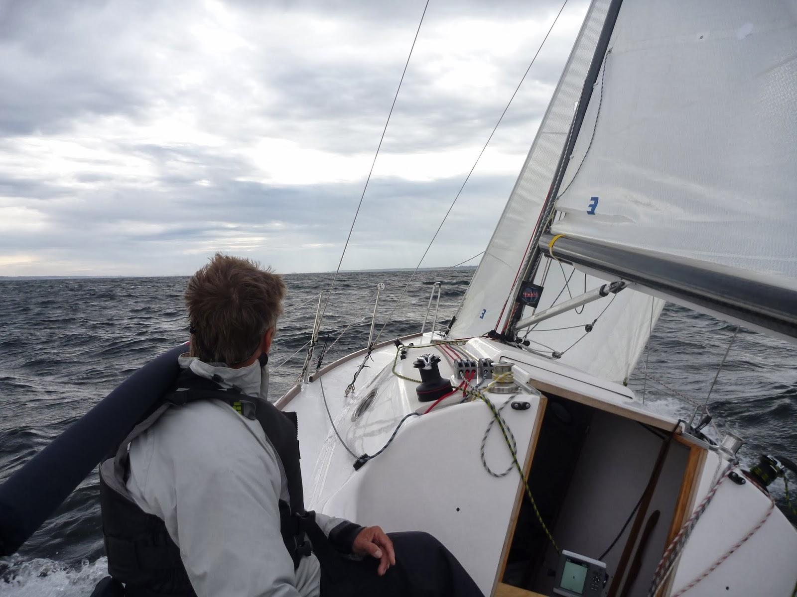 håller ut segel