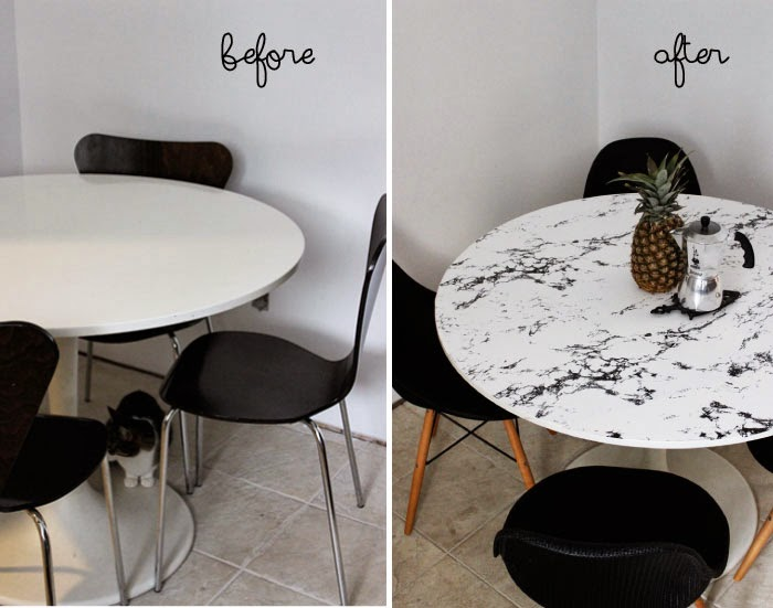 DIY - Faux Marble Table Top