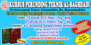 KURSUS PERUNDING TEKNIK AL-BAGHDADI 18 &amp; 19 JANUARI 2012