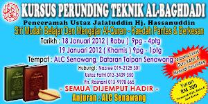 KURSUS PERUNDING TEKNIK AL-BAGHDADI 18 & 19 JANUARI 2012