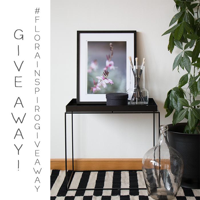 giveaway, tävling, uttlottning, flora inspiro shop, giveaway print, fine art photo print