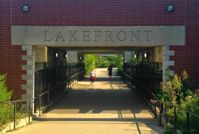 Lakefront Entrance entry to train