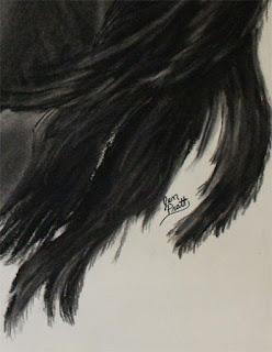 charcoal drawings, horse drawing, horse art