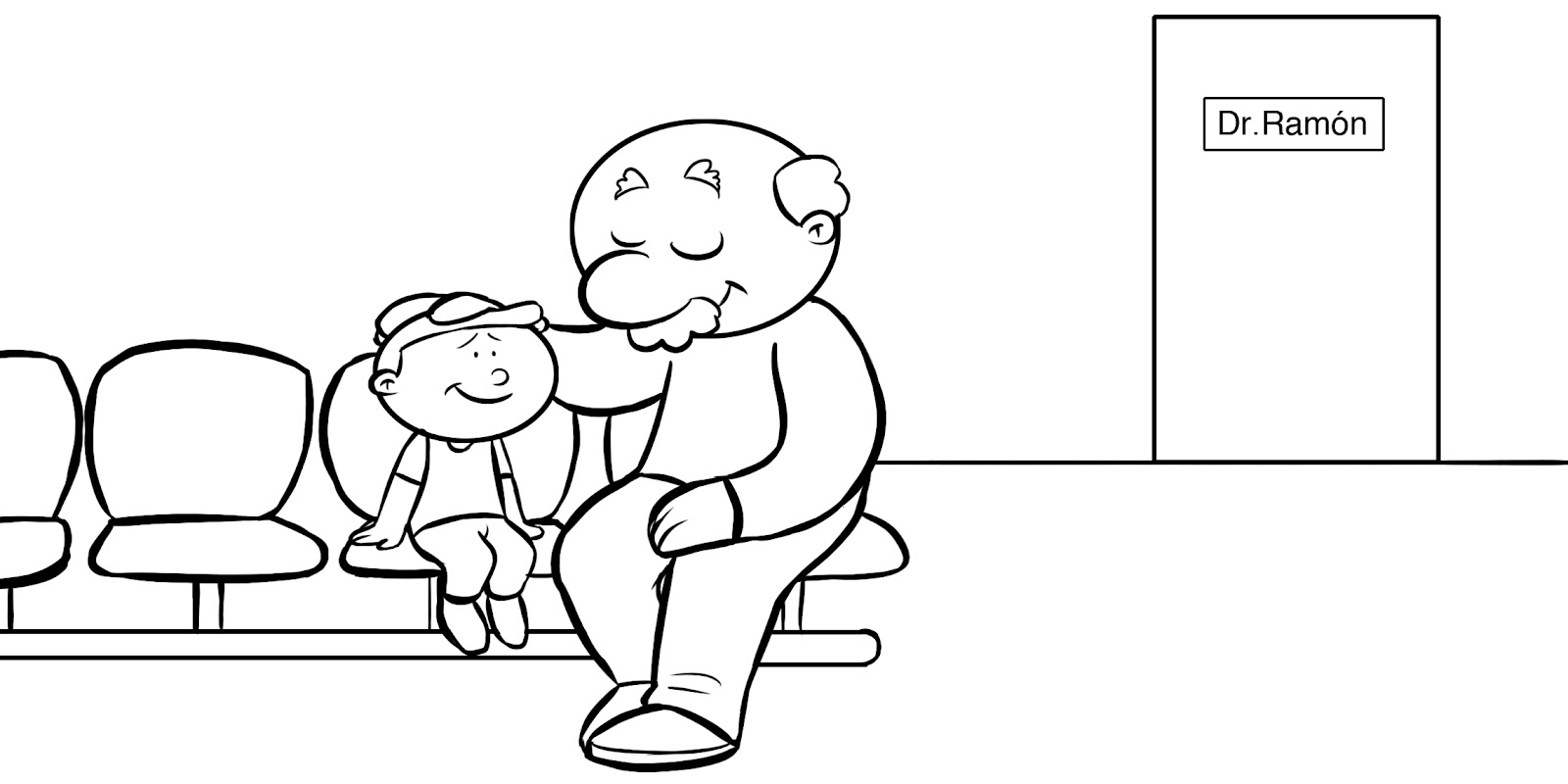 Dorable Dia De Los Padres Para Colorear Para El Abuelo Elaboración ...