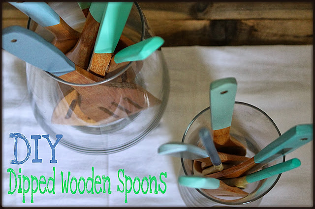 How to DIY dipped wooden spoons