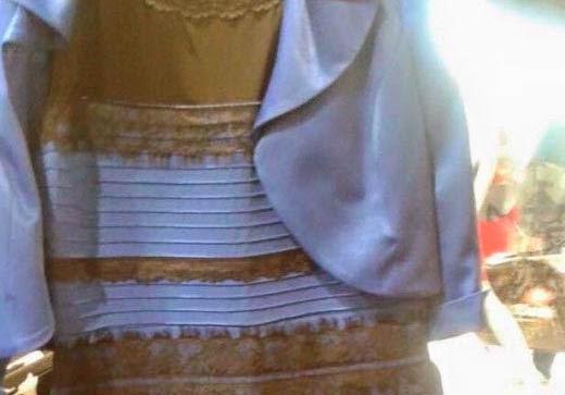 vestido azul negro blanco dorado problema solucion colores
