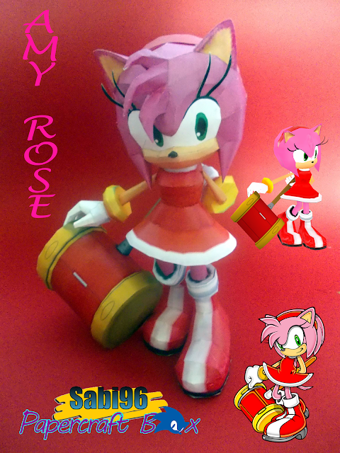 Sonic Adventure Amy Rose Papercraft