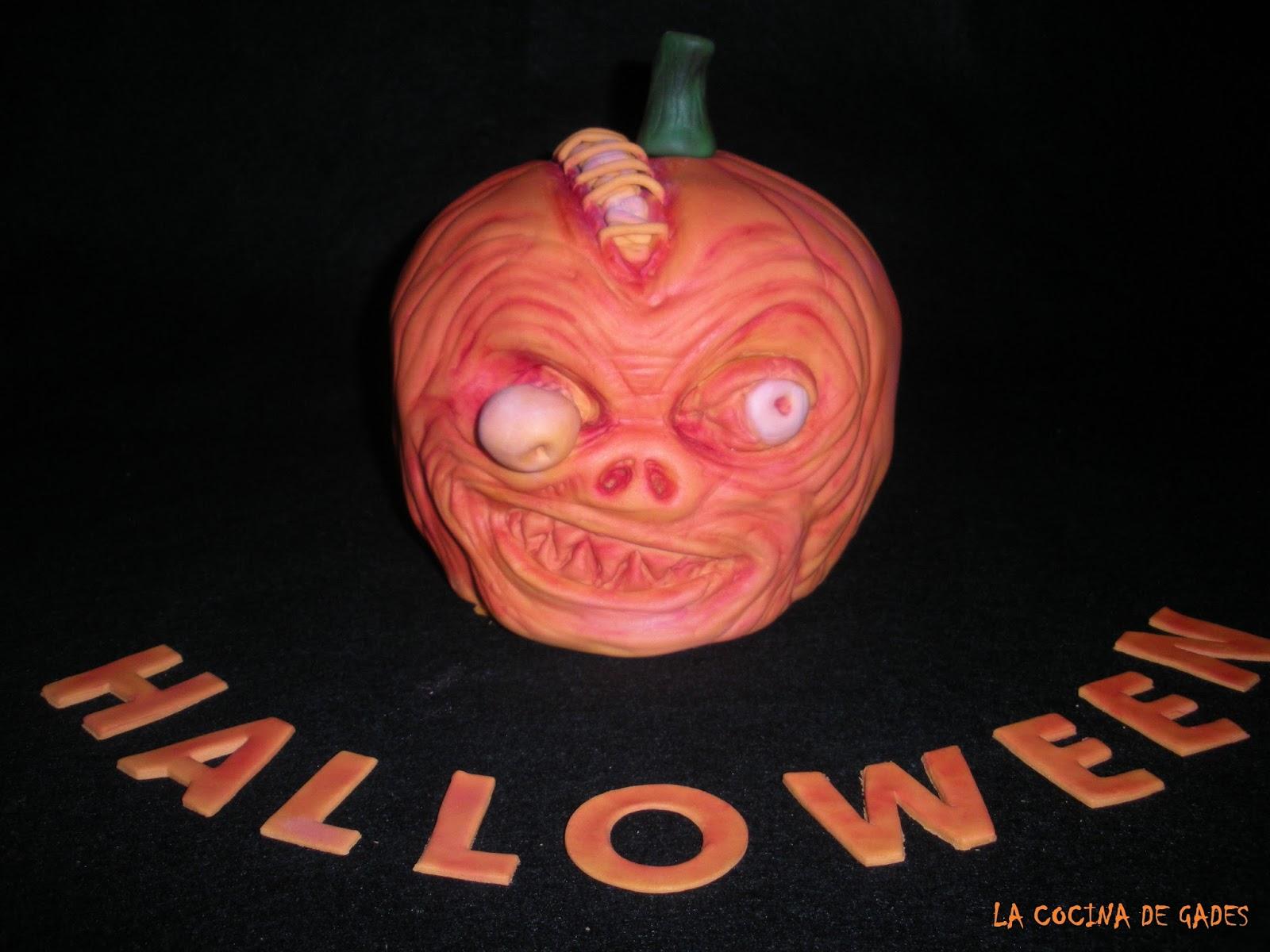 La cocina de gades tarta calabaza de terror de halloween 3d - Calabazas de halloween de miedo ...