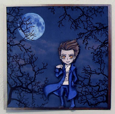 Visible Image stamps winter tree twilight edward character stamp