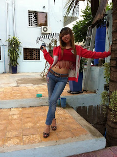 Votey Teav Khmer Girl Sexy Shirt and Hot Jean 19