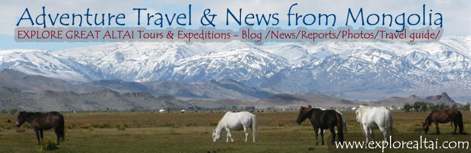 Adventure Travel & News from Mongolia - Horse riding, Rafting, Trekking, Mountaineering...more