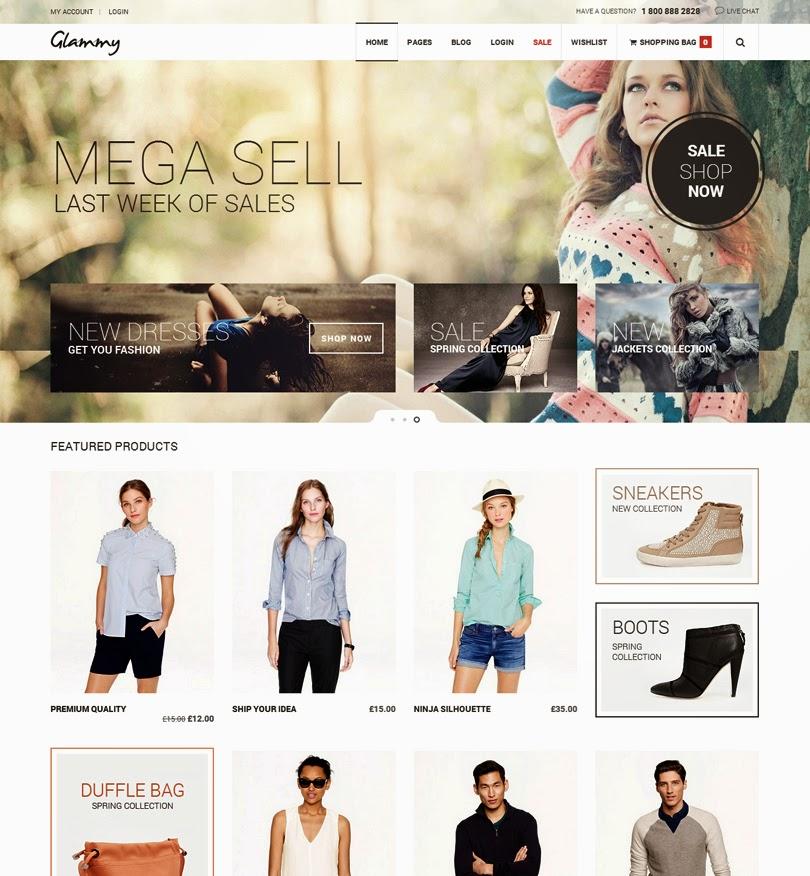 Glammy – eCommerce Premium Theme