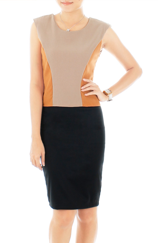 Sweet Persuasion Shell Top – Taupe