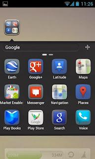 صورة من داخل تطبيق Go launcher ex apk