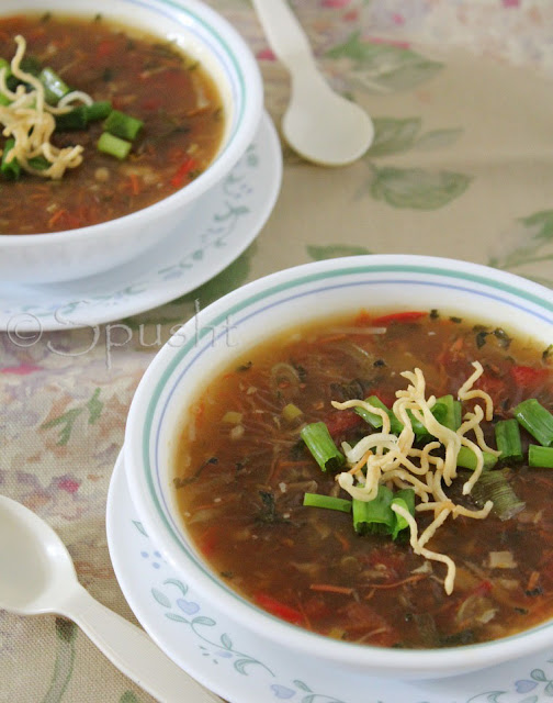 Spusht | Indo-Chinese style Manchow Soup