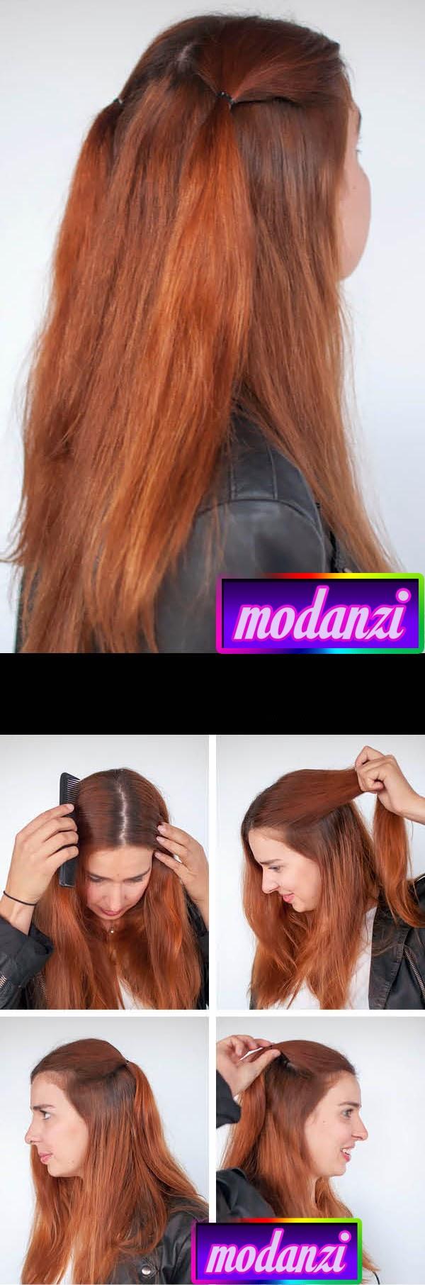 90 'lardan Bir Düz Saç Modeli ( Resimli Anlatım )