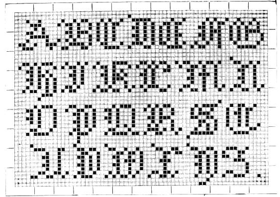 patrones letras pequeñas de punto de cruz