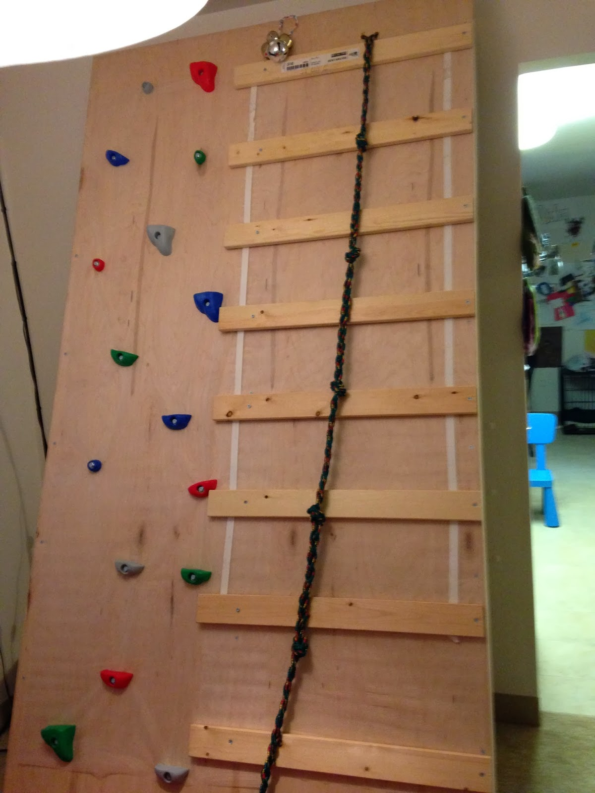cup of autism diy climbing wall