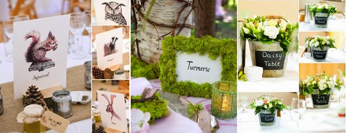 Garden themed wedding table names singapore photo