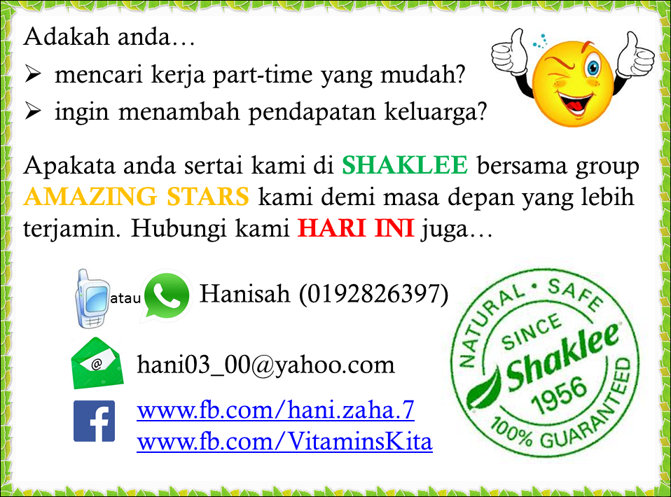 STARS Shaklee contact info