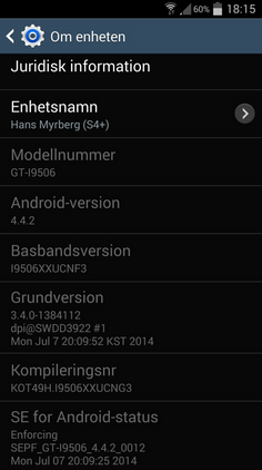 Update to KitKat is being sent out to the Samsung Galaxy S4 LTE-A
