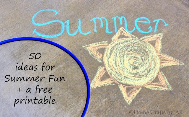Summer Fun List Printable